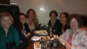 Girls' Night Out w/fellow female entrepreneurs:  moi, Charu Morgan, Julia Kline, Christina Morassi, Umoh Luna, Pamelah Landers