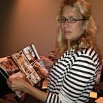 Lauren Weedman, on break from recording Love Junkie audiobook, befuddled by porn. POP Sound Studios, Santa Monica, CA.