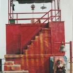 Building at burning ghats of Varanasi, India. Circa 2004.