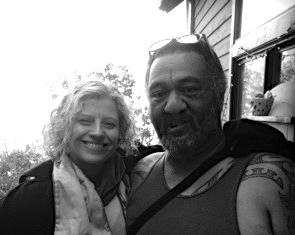 Me and master Maori healer, Manu. Topanga, CA
