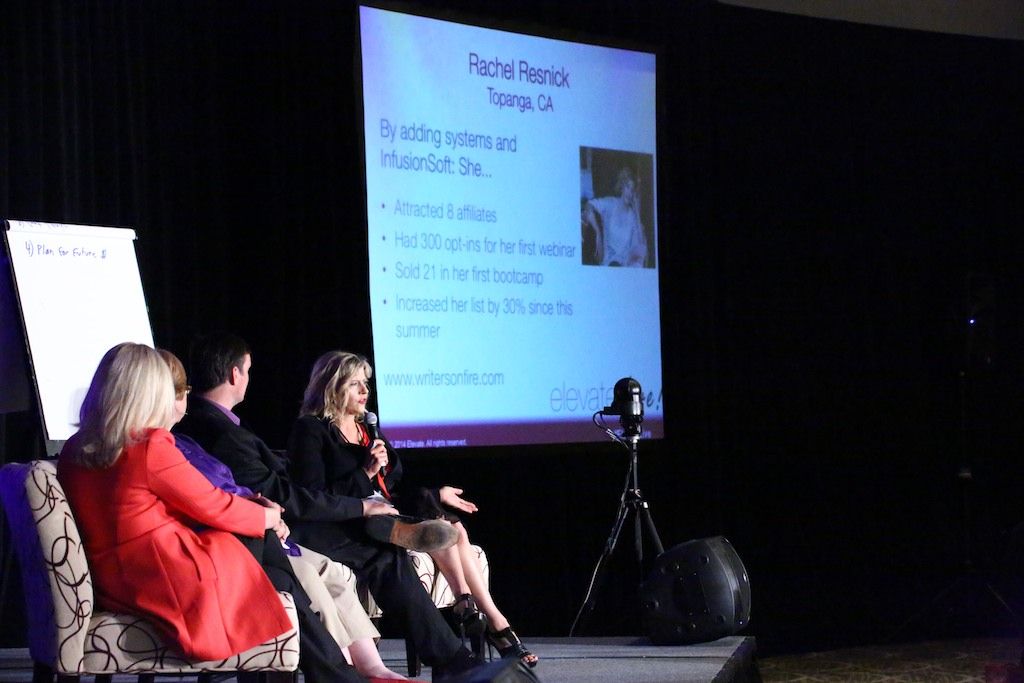 Moi on stage at Elevate Live with Slide.  Doing Topanga proud! From left:  Ali Brown coaches Joy Chudacoff, Sue Painter, James Roche, and Yours Truly.