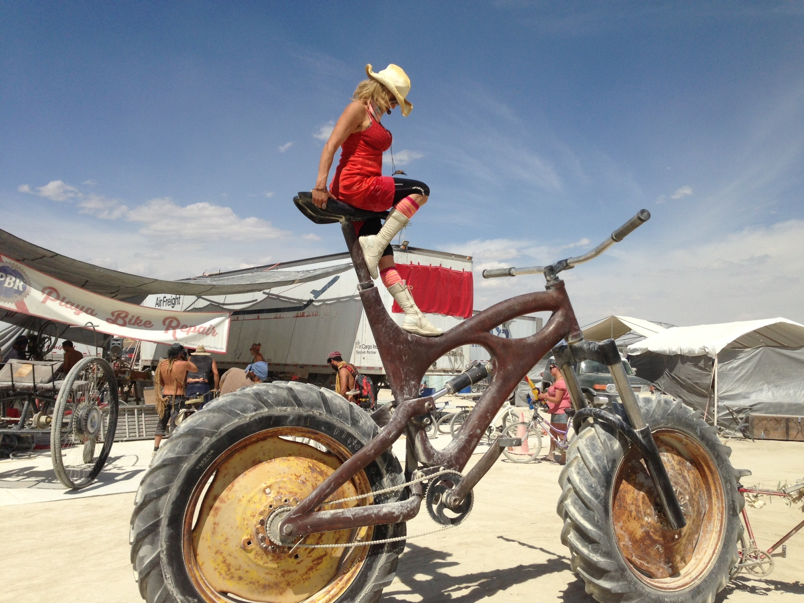 Yours Truly on Giant Bike. Burning Man 2014. Black Rock City, NV.