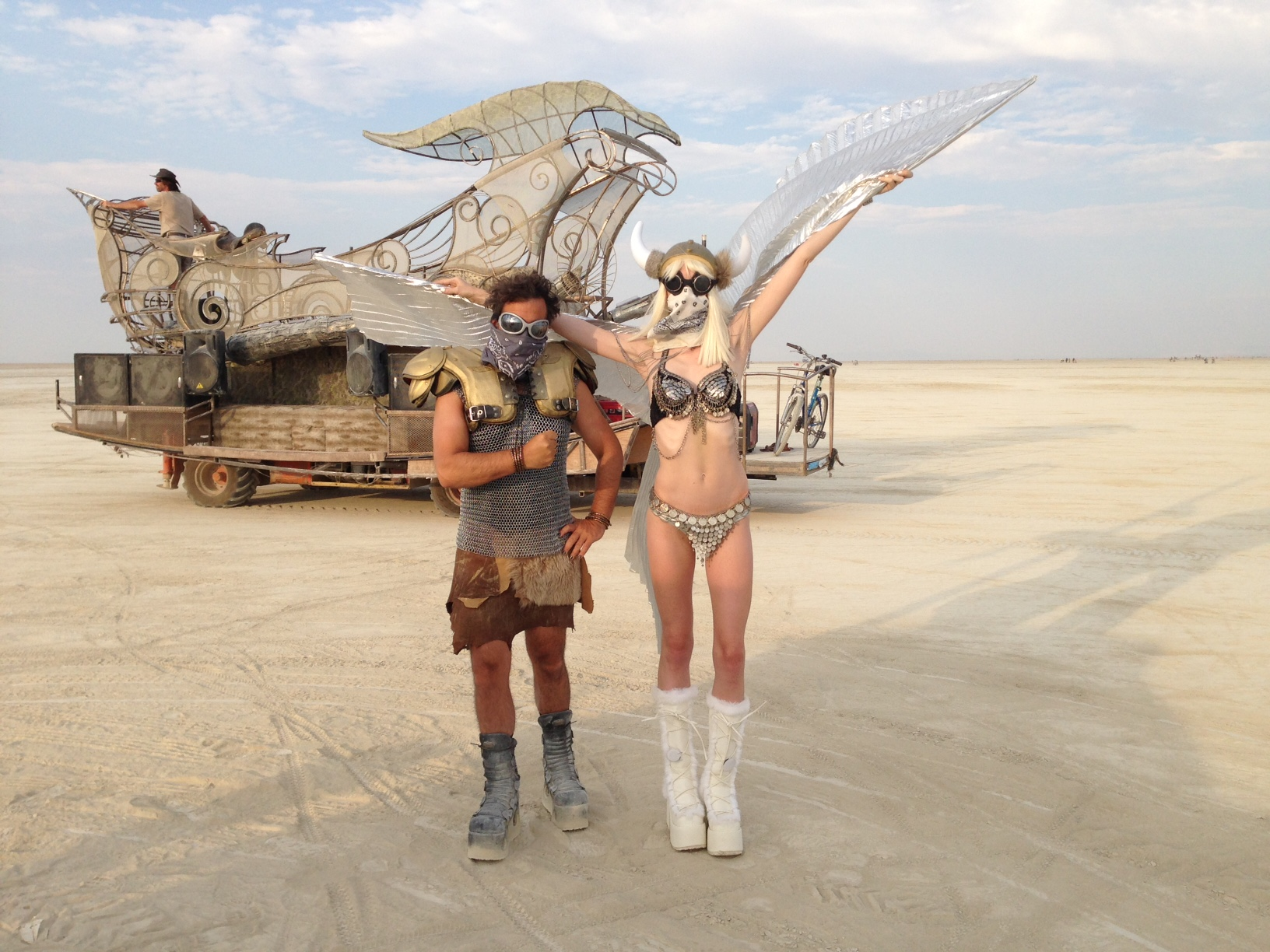 Confidence. Couple at Burning Man 2014. Black Rock City, NV.