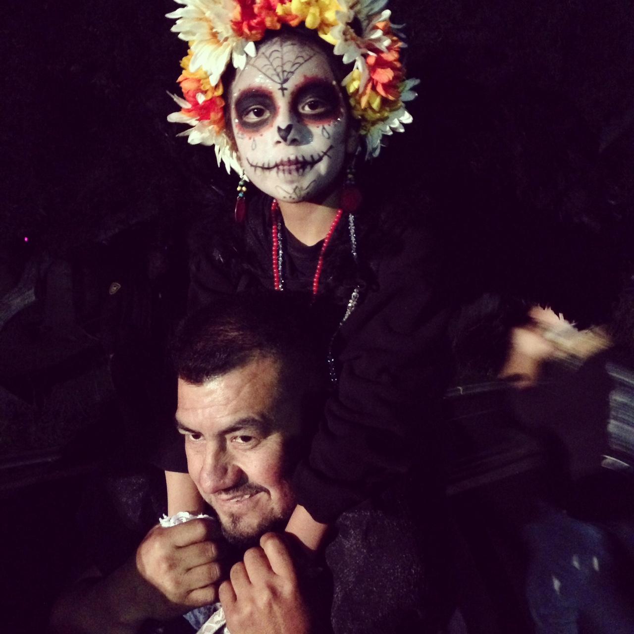 Father and Daughter at Dia de Los Muertos