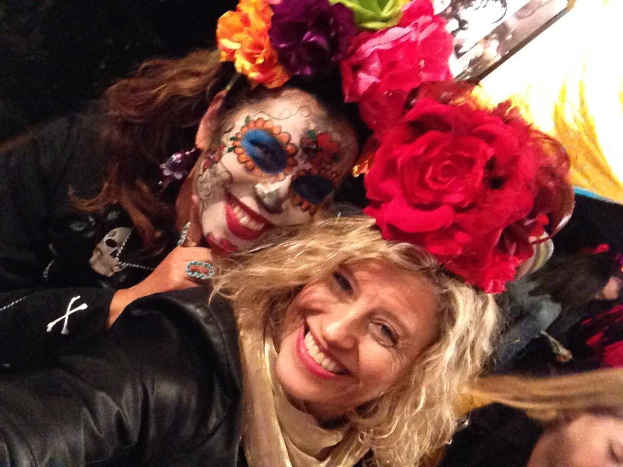 Leticia the Coronas de Flores Artist and Yours Truly
