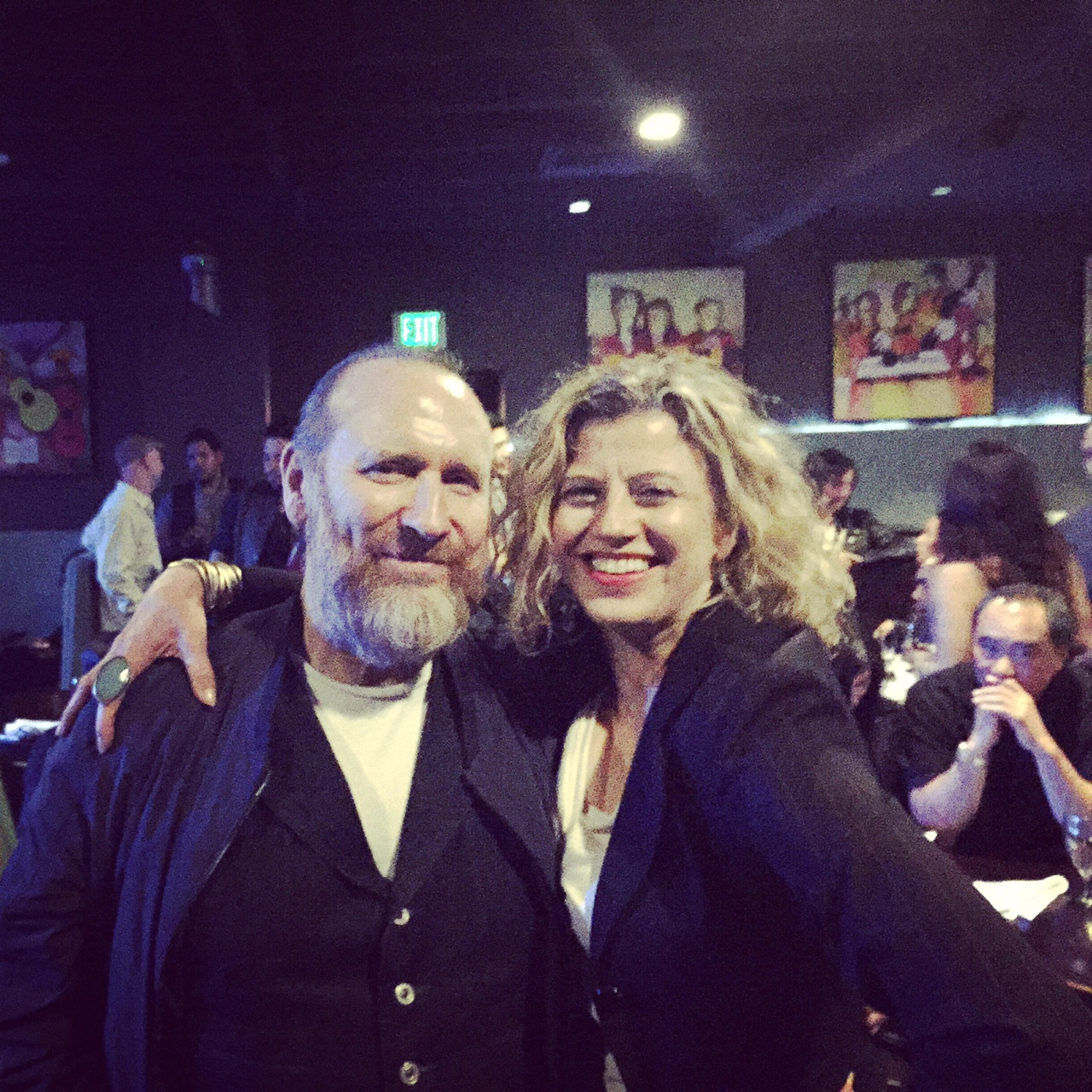 Musician Colin Hay and me. Colin's wife Cecilia Noel's supersonic salsa gig.  Sheila E's Lounge at Vitello's. February, 2015