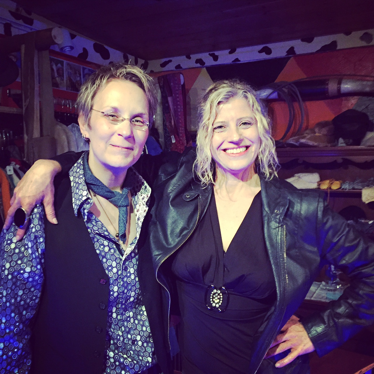 American troubadour, truth-telling singer-songwriter Mary Gauthier and me. February 2015. Hillbilly Hip. Topanga, CA